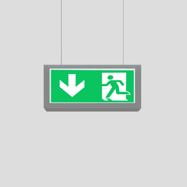 LEDEX Suspended Pendant Grey Exit Sign